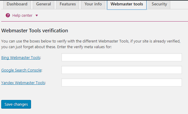 wesbmaster verification code paste here